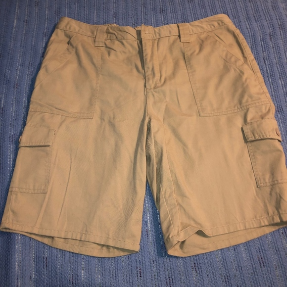 10a8cb97a6 Basic Editions Tan Cargo Shorts